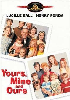 Yours, Mine and Ours (1968) - Lucille Ball, Henry Fonda & Van Johnson - When a widower with 10 children marries a widow with 8, can the 20 of them ever come together as one big happy family? From finding a house big enough for all of them and learning to make 18 school lunches, to coping with a son going off to war and an unexpected addition to the family, Yours, Mine and Ours attempts to blend two families into one and hopes to answer the question Is bigger really better?