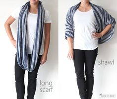 32 Easy-To-DIY Scarves To Suit Every Style. circles, fashion, circl scarf, infinity scarfs, shawl, scarves, tie a scarf, diy, infin scarf