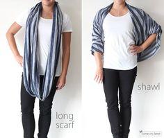 circles, fashion, circl scarf, infinity scarfs, shawl, scarves, tie a scarf, diy, infin scarf