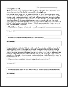 FREE ELA Worksheets and Activities~  This middle and high school resource has a wide variety of PowerPoints and worksheets.  Check out resources for fact/opinion, inference, and lots of other reading/writing skills from E Reading Worksheets!