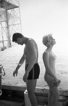 Rock Hudson & Doris Day on the set of Pillow Talk (1959)