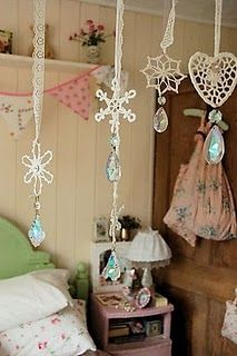 Vintage feeling for the girls' room