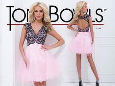 Tony Bowls Shorts Dress TS11465 @Tony Bowls - Prom Dress Designer Gorgeous pink and black!