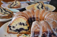 Blueberry Bundt Cake with Lemon Glaze -- Yankee Magazine