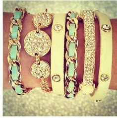 Gorgeous bangle bracelets