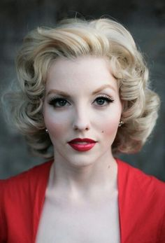 "Vintage curls - for my ""Marilyn"" photoshoot."