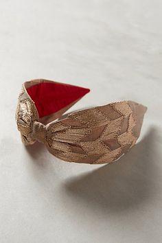 rosegold checked headband / anthropologie