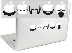 Mustaches and Beards Set 3 MacBook Decal by by suzieautomatic, $12.00
