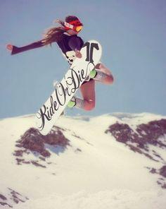 Snowboarding!!--Spring Time Short riding good time! ;)