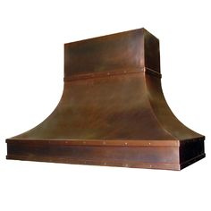 custom copper range hood Texas Lightsmith Model#4, G