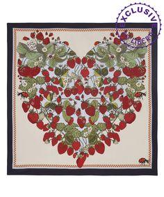 Succulent Strawberries Silk Scarf, Silken Favours