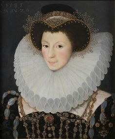 1585, John Bettes the Younger,  English noble woman