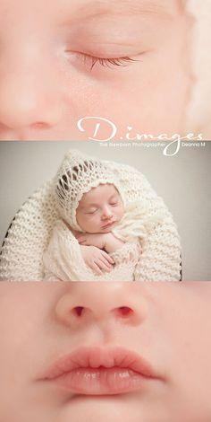 Newborn and child photography- Deanna MacDonald www.dimages.com  newborn photo session ideas/macro shots