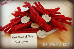 50 shades of sexy treats: Red room of pain red vines