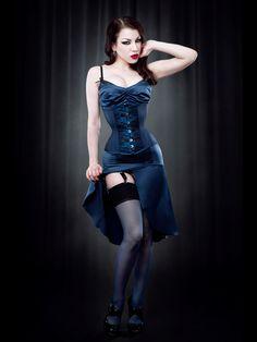 Blue DeVille Underbust Corset - Kiss Me Deadly
