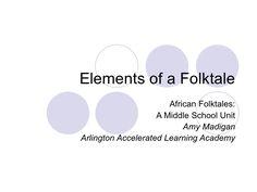 "PowerPoint ""Elements of a Folktales"""