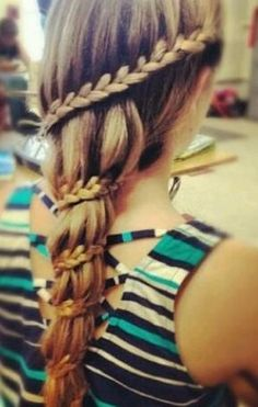 neat waterfall braid.