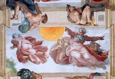 Michel ange, La création des astres