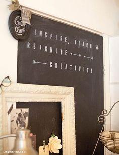 stenciled chalkboard DIY #12monthsofmartha #marthastewartcrafts