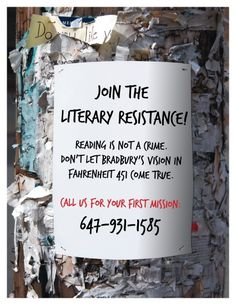 """This is a super-immersive, amazing idea to get a whole community involved in a book! The Toronto Public Library held an alternate reality game to get people involved with Fahrenheit 451 - click through to read how! """"Toronto Public Library Enters Alternate Reality (Gaming)"""" -- Library Journal"""