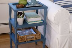 This handsome side table is made with stock pieces, doesn't require any sawing, and will take less time to make than shopping for a look-alike! Get the instructions here. | Photo: Wendell t. Webber | thisoldhouse.com