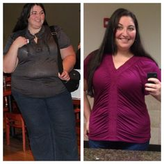 110 pounds down-she had an awesome, honest blog!