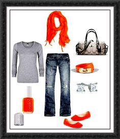 gray & orange