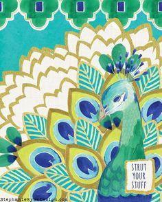 Pavo- Peacock Art Print
