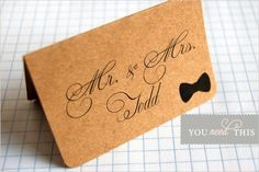 fancy bow tie escort cards