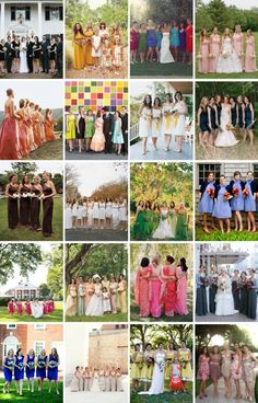 How are you asking your maids to dress? Get ideas from these Real Weddings! http://www.marthastewartweddings.com/308592/bridesmaids-real-weddings/@center/272446/real-weddings