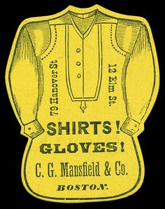 Vintage Trading Card, C.G. Mansfield & Co., Boston