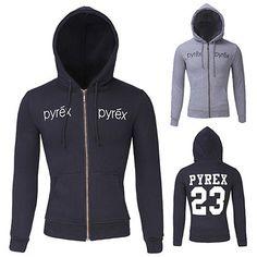 Pyrex Men Designer Sporty Zip Hoodie | Sneak Outfitters