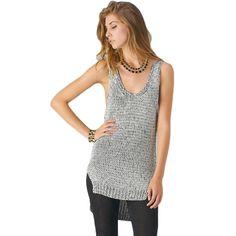 Glittery Knit Tank Top
