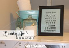 Make Doing Laundry a Little Cuter with this FREE Printable via Clean Mama clean mama, laundri guid, free laundry printables, laundry rooms, free printabl, laundri room