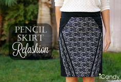 Pencil Skirt Refashion Tutorial