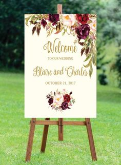 Printable / Editable Welcome Wedding Sign Template #weddings @EtsyMktgTool #rusticwedding #printablewedding #diyweddingset #printedwedding