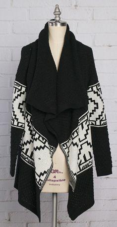 Diamond knit cardigan