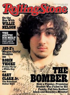 Rolling Stone Magazine cover, August 2013 issue featuring Boston Marathon bomber, Dzhokhar Tsarnaev. To contact TWX Magazine Customer Service by phone about your Rolling Stone (ROLLINGST) magazine subscription: 1- (877) 463-3032