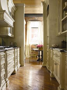 American-Treasures-Galley-Kitchen.jpg (617×825)  I think I like these colors best
