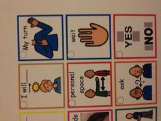 Social Skills Visuals for your lanyard    Autism Classroom