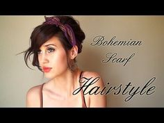hairstyle scarf, perfect hairstyl, boho updo hairstyles, scarves hairstyles, summer beach, poolside hairstyles, summer hairstyles, scarf updo, hairstyles scarf