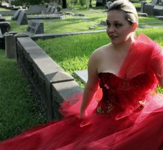 The original traveling red dress (modeled by @thebloggess)