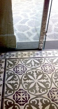Tile detail at Castell Son Claret  Handmade tiles can be colour coordinated and customized re. shape, texture, pattern,