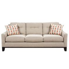 Nebraska Furniture Mart – HM Richards Transitional Sofa with Button-Tufted Back and Wood Legs