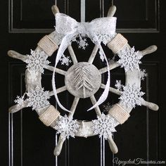 diy-nautical-christmas-wreath-ship-wheel-upcycledtreasures