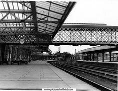 Platform 1, Midland Station, Sheaf Street looking towards  Joseph Rodgers and Sons Ltd., Sheaf Island Works