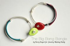 colored coiled wire bangles by Kerry Bogert - from The Big Bangle: How to Make Colorful Coiled Wire Bangles with Kerry Bogert #wirejewelry #bangles