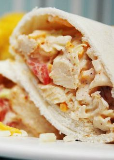 Southwest Chicken Wraps - precooked chicken strips and bagged coleslaw mix make these delicious wraps easy and fast!
