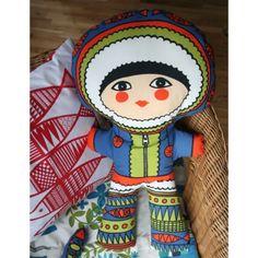 Nanuq the Eskimo Panel Doll sewing kits, craft, sew kit, fish eskimo, eskimo sew