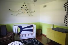 Orange, Citron and Navy Nursery - beautiful, bright, modern nursery!